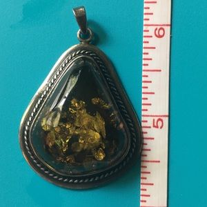 Jewelry - Baltic amber and silver pendant